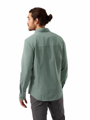 CMS659 Craghoppers NosiLife Hedley Shirt - Sage - Back