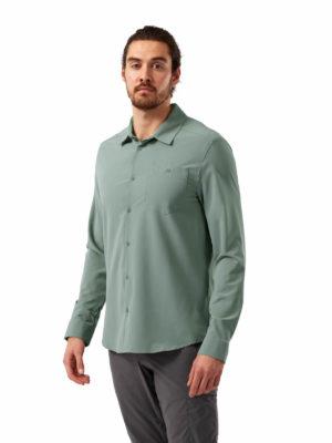 CMS659 Craghoppers NosiLife Hedley Shirt - Sage - Front
