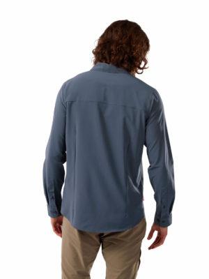 CMS659 Craghoppers NosiLife Hedley Shirt - Steel Blue - Back