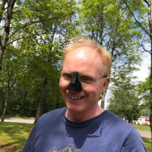 Nozkon Nose Shield - Large - Black Model