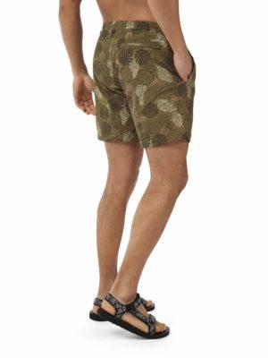 CMM007 Craghoppers NosiLife Medici Board Shorts - Dark Moss - Back