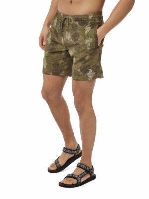 CMM007 Craghoppers NosiLife Medici Board Shorts - Dark Moss - Front