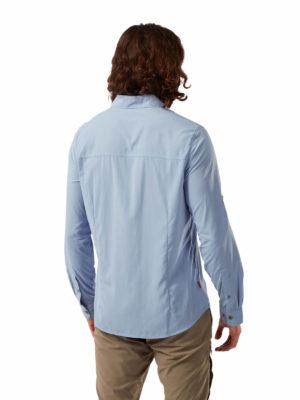 CMS598 Craghoppers Mens Nuoro Shirt - Harbour Blue - Back