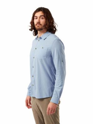 CMS598 Craghoppers Mens Nuoro Shirt - Harbour Blue - Front