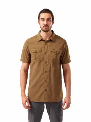 CMS607 Craghoppers NosiLife Adventure Shirt - Rubber - Front