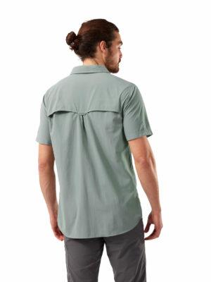CMS607 Craghoppers NosiLife Adventure Shirt - Sage - Back