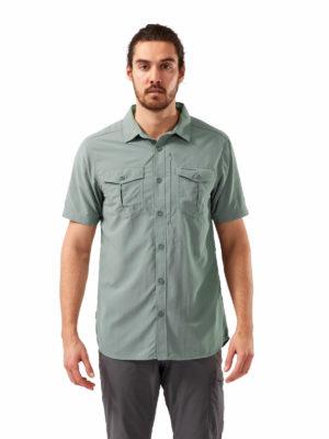 CMS607 Craghoppers NosiLife Adventure Shirt - Sage - Front