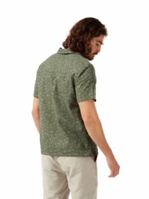 CMS664 Craghoppers NosiBotanical Pasport Shirt - Parka Green - Back