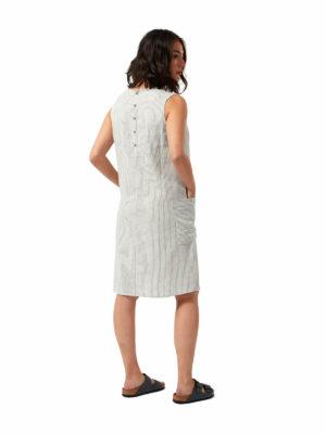 CWD026 Craghoppers NosiBotanical Marin Dress - Blue Navy Stripe - Back