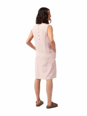 CWD026 Craghoppers NosiBotanical Marin Dress - Brushed Lilac Check - Back