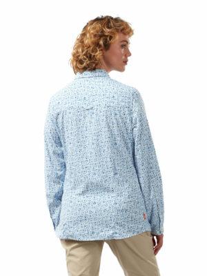 CWS504 Craghoppers NosiLife Fara Shirt - Mediterranean Blue - Back