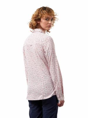 CWS504 Craghoppers NosiLife Fara Shirt - Raspberry Print - Back