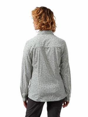 CWS504 Craghoppers NosiLife Fara Shirt - Sage Print - Back