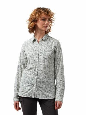 CWS504 Craghoppers NosiLife Fara Shirt - Sage Print - Front
