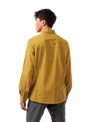 CMS661 Craghoppers NosiDefence Kiwi Ridge Shirt - Dark Butterscotch - Back