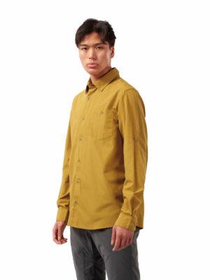 CMS661 Craghoppers NosiDefence Kiwi Ridge Shirt - Dark Butterscotch - Front