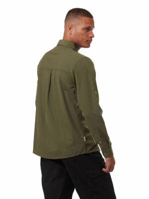 CMS702 Craghoppers NosiDefence Kiwi Boulder Shirt - Dark Khaki - Back