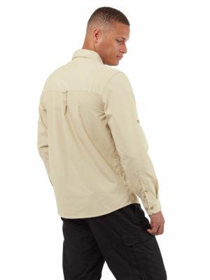 CMS702 Craghoppers NosiDefence Kiwi Boulder Shirt - Oatmeal - Back
