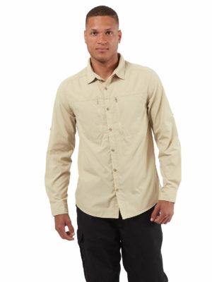 CMS702 Craghoppers NosiDefence Kiwi Boulder Shirt - Oatmeal - Front