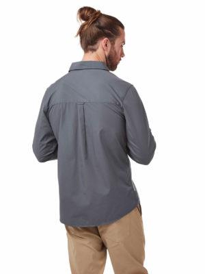 CMS702 Craghoppers NosiDefence Kiwi Boulder Shirt - Ombre Blue - Back
