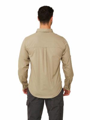 CMS702 Craghoppers NosiDefence Kiwi Boulder Shirt - Rubble - Back
