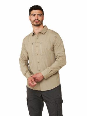 CMS702 Craghoppers NosiDefence Kiwi Boulder Shirt - Rubble - Front