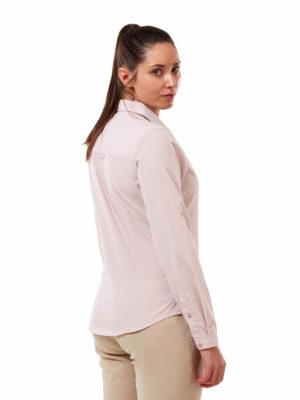 CWS511 Craghoppers NosiDefence Kiwi Shirt - Brushed Lilac - Back