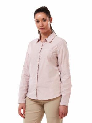 CWS511 Craghoppers NosiDefence Kiwi Shirt - Brushed Lilac - Front